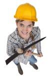 Jonge vrouwelijke handarbeider Stock Afbeelding