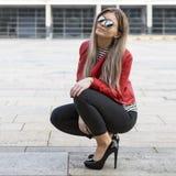 Jonge Vrouwelijke Manier Blogger stock fotografie