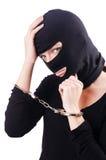 Jonge vrouwelijke misdadiger stock foto's