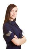 Jonge vrouwelijke politieman Royalty-vrije Stock Afbeelding