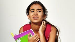 Jonge Vrouwelijke Student And Anxiety Stock Afbeelding
