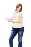 Jonge vrouwelijke student met boeken royalty-vrije stock afbeeldingen