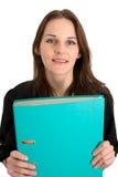 Jonge Vrouwelijke Student met een Omslag/een Bindmiddel Stock Foto's