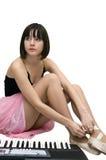 Jonge vrouwen bindende pointe schoenen. Royalty-vrije Stock Foto