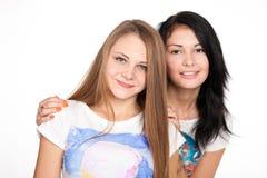 Jonge vrouwen en hun vriendschap Stock Afbeelding