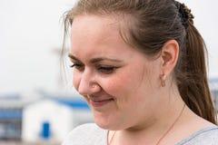 Jonge vrouwen (moeder) close-up Het gezicht van de close-up royalty-vrije stock afbeelding