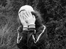 Jonge vrouwen in vrees Royalty-vrije Stock Afbeeldingen