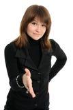 Jonge vrouwenhanddruk Royalty-vrije Stock Foto