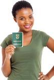 Jonge vrouwenidentiteitskaart Stock Afbeelding
