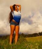 Jonge vrouwenlevensstijl Stock Foto