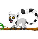 Jonge wasbeer op tak vector illustratie