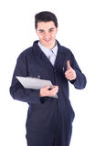 Jonge werknemer stock afbeelding