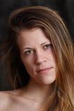 Jonge witte vrouw stock foto