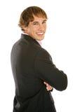 Jonge Zakenman die - glimlacht Royalty-vrije Stock Afbeeldingen