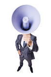 Jonge zakenman met luidspreker Royalty-vrije Stock Fotografie