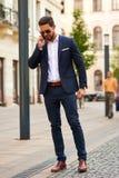 Jonge zakenman op de straat Royalty-vrije Stock Foto