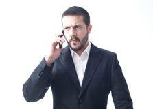 Jonge zakenman op de telefoon Royalty-vrije Stock Afbeelding