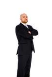 Jonge zakenman op witte achtergrond Stock Fotografie