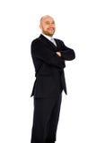 Jonge zakenman op witte achtergrond Stock Foto