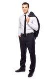 Jonge zakenman status Royalty-vrije Stock Fotografie