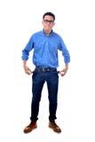 Jonge zakenman zonder geld Stock Foto's