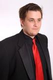 Jonge zakenman in zwart formeel kostuum Stock Fotografie