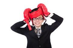 Jonge zakenmanbokser Stock Afbeelding