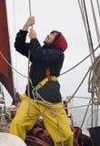 Jonge zeeman op het werk royalty-vrije stock afbeelding