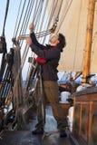 Jonge zeeman op het werk royalty-vrije stock foto