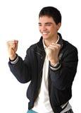 Jonge zeer gelukkige mens Royalty-vrije Stock Afbeelding