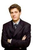 Jonge zekere zakenman Royalty-vrije Stock Fotografie