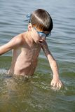 Jonge zwemmer royalty-vrije stock afbeelding
