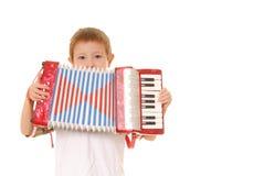 Jongen 24 van de harmonika stock foto's