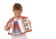 Jongen 25 van de harmonika stock afbeeldingen