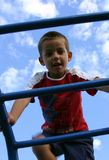 Jongen 5 van de speelplaats royalty-vrije stock foto's