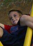 Jongen 7 van de speelplaats Royalty-vrije Stock Foto