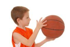 Jongen 8 van het basketbal Royalty-vrije Stock Fotografie