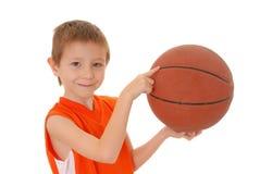 Jongen 9 van het basketbal Royalty-vrije Stock Foto's