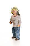 Jongen als brandbestrijder Royalty-vrije Stock Foto's