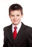 Jongen in ambtenaar dresscode Stock Foto's