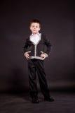 Jongen in ambtenaar dresscode Stock Foto