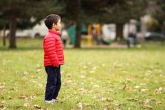Jongen bij park royalty-vrije stock afbeeldingen