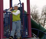Jongen bij park met witte sokhoed Royalty-vrije Stock Foto