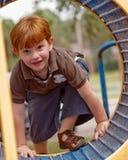Jongen bij speelplaats Royalty-vrije Stock Foto