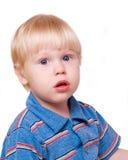Jongen-blond stock afbeelding