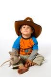 Jongen in cowboyhoed Royalty-vrije Stock Afbeelding