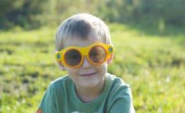 Jongen in 3d glazen Royalty-vrije Stock Fotografie