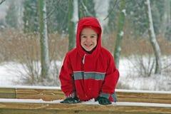 Jongen in de Winter Royalty-vrije Stock Afbeeldingen
