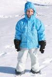Jongen in de winter Royalty-vrije Stock Afbeelding