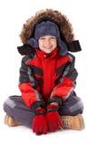 Jongen in de winterkleding Royalty-vrije Stock Fotografie